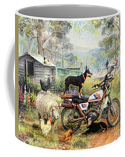 Kelpie Karetakers Coffee Mug by Trudi Simmonds