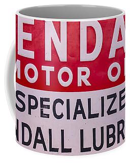 Kendall Motor Oils Sign Coffee Mug