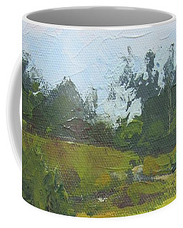 Coffee Mug featuring the painting Kenilworth Hills Queensland Australia by Chris Hobel