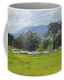 Coffee Mug featuring the painting Kenilworth Landscape Queensland Australia by Chris Hobel