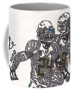 Kenjon Barner And Marcus Mariota Coffee Mug