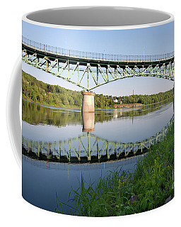Kennebec River Reflections, Augusta, Maine #8340-8341 Coffee Mug