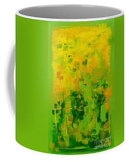 Coffee Mug featuring the painting Kenny's Room by Holly Carmichael