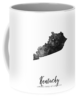 Kentucky State Map Art - Grunge Silhouette Coffee Mug