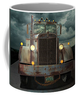 Coffee Mug featuring the digital art Kenworth Old Workhorse by Stuart Swartz