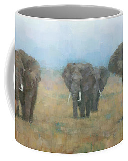 Kenyan Elephants Coffee Mug