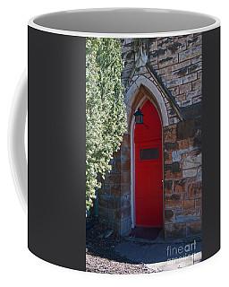 Red Church Door Coffee Mug
