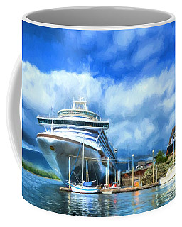 Coffee Mug featuring the photograph Ketchikan Harbor by Mel Steinhauer