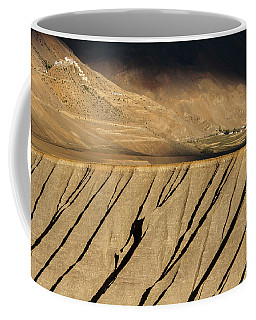 Coffee Mug featuring the photograph Key Monastery And Spiti Valley, Spiti, 2008 by Hitendra SINKAR