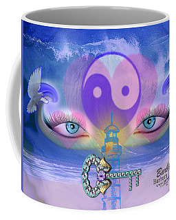Coffee Mug featuring the digital art Hope Is The Key To Balance Love And Peace by Barbara Tristan