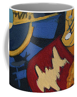 Coffee Mug featuring the painting Key To The Heart by Erin Fickert-Rowland