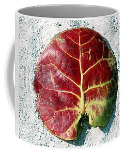 Key West Leaf In The Sand Coffee Mug
