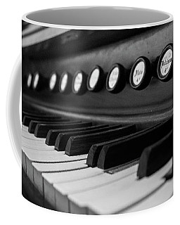 Coffee Mug featuring the photograph Keys And Knobs In Black And White by Greg Mimbs