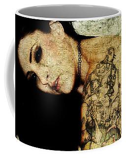 Coffee Mug featuring the digital art Khrist 2 by Mark Baranowski