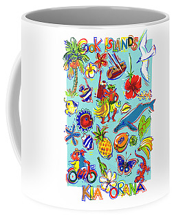 Coffee Mug featuring the painting Kia Orana Cook Islands by Judith Kunzle