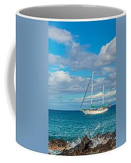 Kihei Sailboat 4 Coffee Mug by Leigh Anne Meeks
