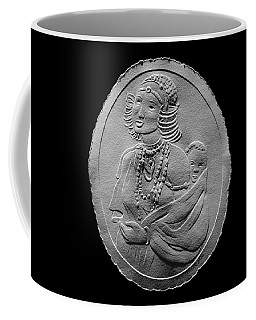 Kikuyu Woman And Child Relief Drawing Coffee Mug by Suhas Tavkar