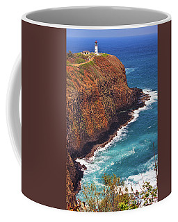 Coffee Mug featuring the photograph Kilauea Lighthouse On The Island Of Kauai, Hawaii, United States Of America          by Sam Antonio Photography