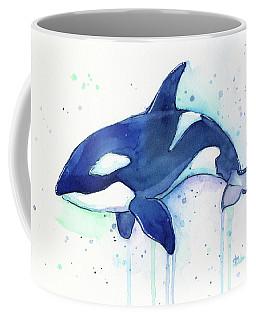 Kiler Whale Watercolor Orca  Coffee Mug