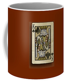 King Of Clubs In Wood Coffee Mug