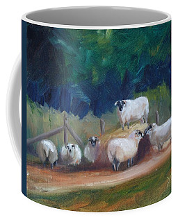 Coffee Mug featuring the painting King Of Green Hill Farm by Donna Tuten