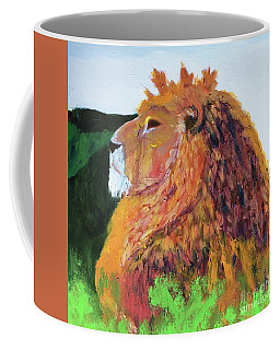 Coffee Mug featuring the painting King Of Hearts by Donald J Ryker III