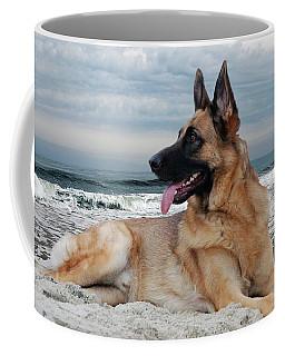 King Of The Beach - German Shepherd Dog Coffee Mug