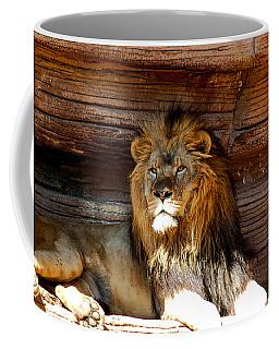 King Of The Jungle Coffee Mug by Linda Brown