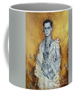 King Phumiphol Coffee Mug by Chonkhet Phanwichien