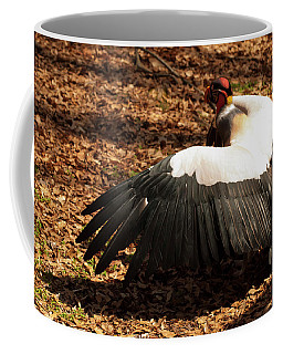 Coffee Mug featuring the photograph King Vulture 2 Strutting by Chris Flees