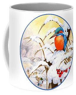 Kingfisher Plate Coffee Mug