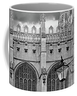 Coffee Mug featuring the photograph Kings College Chapel Cambridge Exterior Detail by Gill Billington
