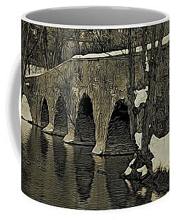 Kingston Bridge Woodprint Coffee Mug