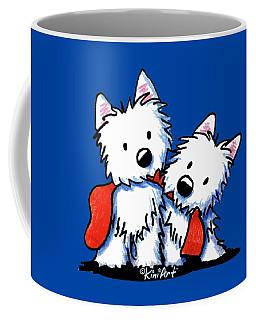 Kiniart Red Sock Westies Coffee Mug