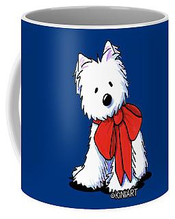 Kiniart Westie In Red Bow Coffee Mug