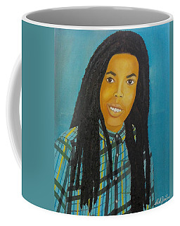 Kinshasa My First Grandchild Coffee Mug by Nicole Jean-Louis