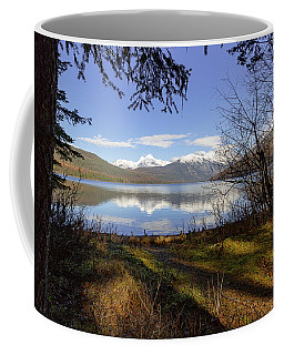 Coffee Mug featuring the photograph Kintla Lake Shore by Jack Bell