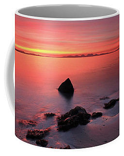 Coffee Mug featuring the photograph Kintyre Rocky Sunset 2 by Grant Glendinning