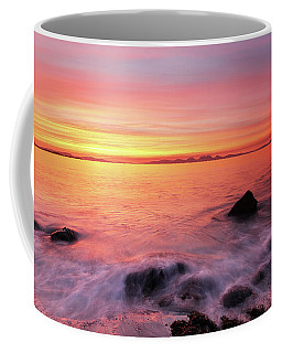Coffee Mug featuring the photograph Kintyre Rocky Sunset 3 by Grant Glendinning