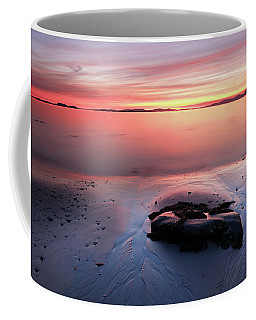 Coffee Mug featuring the photograph Kintyre Rocky Sunset 5 by Grant Glendinning