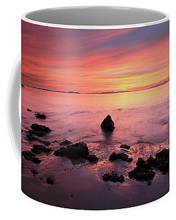 Coffee Mug featuring the photograph Kintyre Rocky Sunset by Grant Glendinning