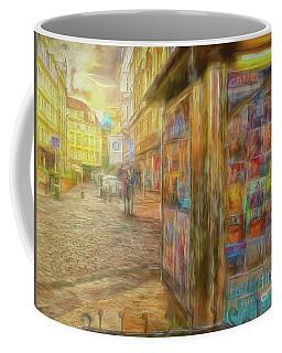 Kiosk - Prague Street Scene Coffee Mug