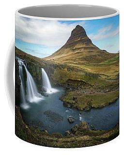 Coffee Mug featuring the photograph Kirkjufell Waterfall by James Udall
