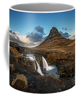 Kirkjufellsfoss Waterfall And Kirkjufell Mountain, Iceland Coffee Mug