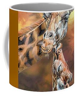 Coffee Mug featuring the mixed media Kiss For Mama by Carol Cavalaris