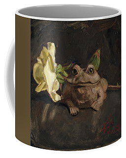 Coffee Mug featuring the painting Kiss Me And Find Out by Billie Colson