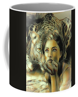 Kiss Of The Leopard Woman Coffee Mug