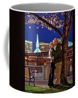 Kiss Under The Cherry Tree - Vertical Coffee Mug