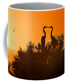 Kissing Herons  Coffee Mug