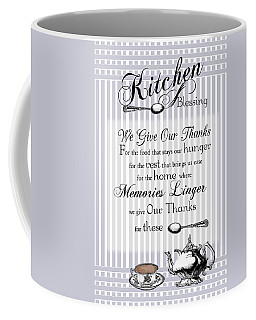 Coffee Mug featuring the digital art Kitchen Blessing by Robin-Lee Vieira